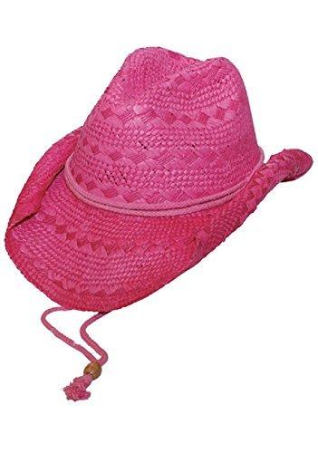 MG Ladies Toyo Straw Cowboy Hat FUCHSIA