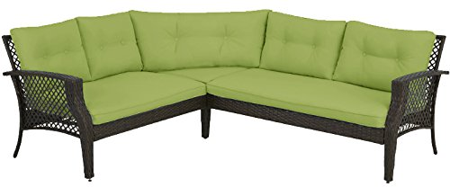 Great Amazon.com : Palermo 3pc Outdoor Patio Furniture Sectional (Lime) : Garden  U0026 Outdoor