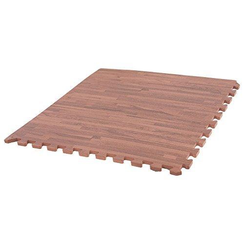 IncStores Soft Wood Foam Tiles 2ft x 2ft Interlocking Floor Tiles ...