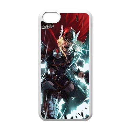 X1F92 Thor K4I9BD cas d'coque iPhone de téléphone cellulaire 5c couvercle coque blanche HX0TTY0QE