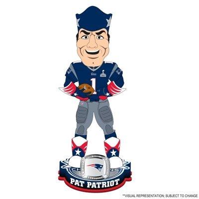 FOCO NFL New England Patriots Mascot Super Bowl XLIX Champions Bobble, Blue by FOCO