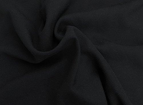 - Black Wool Tri Blend Woven Fabric Flannel Brush Back by Yard 11/15