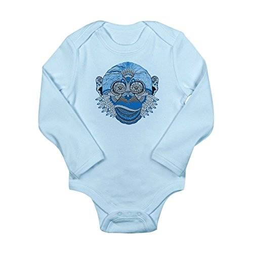 Truly Teague Long Sleeve Infant Bodysuit Chinese New Year Monkey 2016 Lucky Blue - Sky Blue, 18 To 24 Months