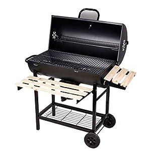 SunJas Barbecue/Griglia a Carbone BBQ Grill Carrello, Palla con Regolazione della Temperatura, Grill 2 Ruote, Nero 1 spesavip