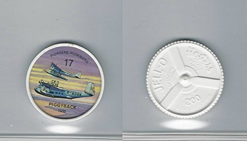 (1960's Jell-o Hostess, Airplane Coin, 17 Piggyback 1938)