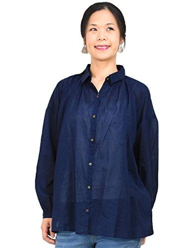 (ヨンユー)4U M.M.O. シャツ m.m.o. 長袖 ギャザー ワイド ビッグシルエット 綿100 無地シャツ トップス レディース ゆったり ゆるシャツ シンプル ベーシック 定番 大きい MMO mmo ナチュラル おしゃれ