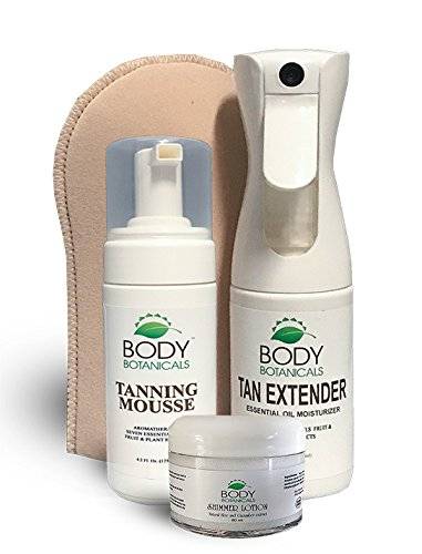 s Tanning Kit by Body Botanicals, 1 Tan Extender 6oz, 1 Tanning Mousse 4oz and 1 Simmer Lotion 2oz. ()