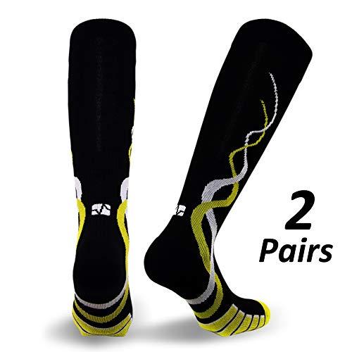 Vitalsox Silver Drystat Graduated Compression Socks (2 Pack), Black/Black, Small by Vitalsox (Image #1)