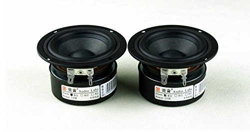 15w Woofer - UTP 2pcs 3 inch 4 ohm 15W Full Range Speaker Subwoofer Tweeter HiFi Sound Quality Music FM Radio Home Video System Speaker