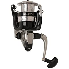 Daiwa Strikeforce-B spinning reels offer the combination of a very reasonable price and some great features including folding handle, ABS aluminum spool and great looking body design.