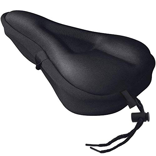 MyM Gel Bike Seat Cover, Soft Padded Bicycle Saddle Cushion Cover, Perfect Bicycle Accessory