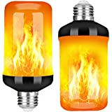 Y- STOP LED Flame Effect Fire Light Bulb - Upgraded 4 Modes Flickering Fire Halloween Decorations Lights - E26 Base Flame Bulb with Upside Down Effect(2 Pack)