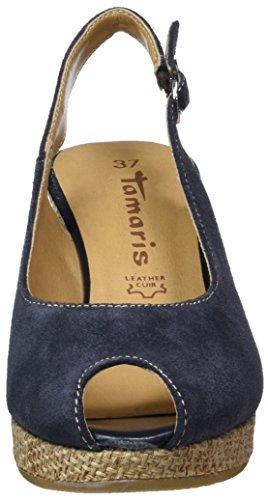 mujer de Zapatos 29303 Azul Rope Navy cuero para 891 vestir de Tamaris 76FWnq00