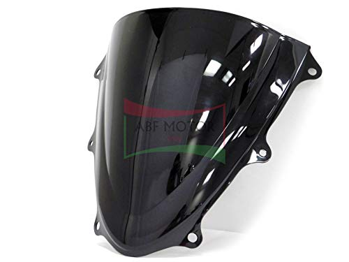 Protek ABS Plastic Injection Black Smoke Double Bubble Transparent Windscreen Windshield Front Visor for 2011 2012 2013 2014 2015 2016 2017 2018 Suzuki GSXR600 GSXR750 (2018 Gsxr 600 Windscreen)