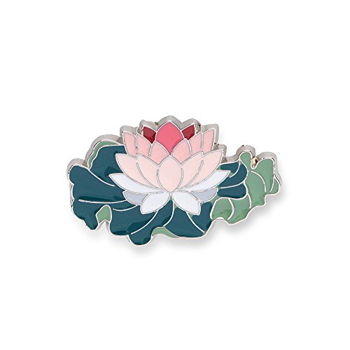Enamel Flower Pin - The Metropolitan Museum of Art Enamel Lotus Flower Pin - Backpack and Lapel Novelty Brooch