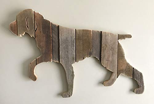 German Wirehaired Pointer silhouette made with reclaimed wood (sold-order yours now)