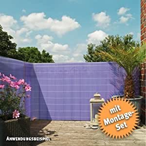 Cañizo de Rügen Sunline, plástico lila, 50trabillas, 3m, perfil en U 180x 300cm