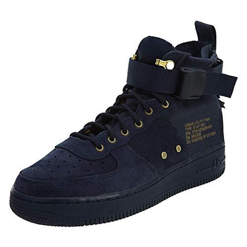Nike Kids SF AF1 Mid Basketball Shoe (GS) (5.5 M US Big Kid, Obsidian Blue/Black)