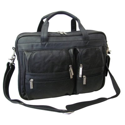 AmeriLeather Leather Business Briefcase (Black)