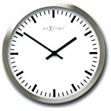 NeXtime 2518 Wall Clock, Stripes, 15 cm, glass / alu