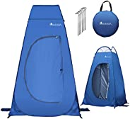 YOUKADA Camping Toilet Pop Up Privacy Tent Changing Room Tent Portable Toilet for Camping Portable Shower Silv