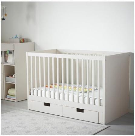 IKEA cuna con cajones, blanco 162020.8232.210: Amazon.es: Jardín