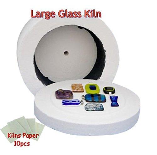 Professional Extra Large Microwave Kiln 19.5x11cm Glass Fusing Kiln + 10pcs Kiln - Kiln Stand