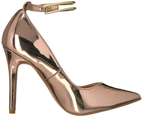 Qupid Women's Milia-107 x Dress Pump Rose Gold Shiny Met 6osAwcZ