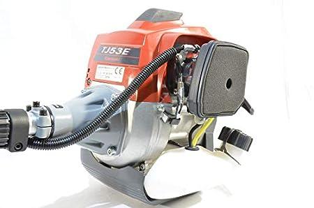 Desbrozadora con motor Kawasaki TJ53 para una sola mano ...