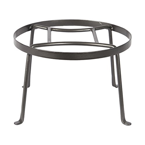 Achla Designs FB-30 Argyle Wrought Iron Plant Stand, 8-inch H, Graphite
