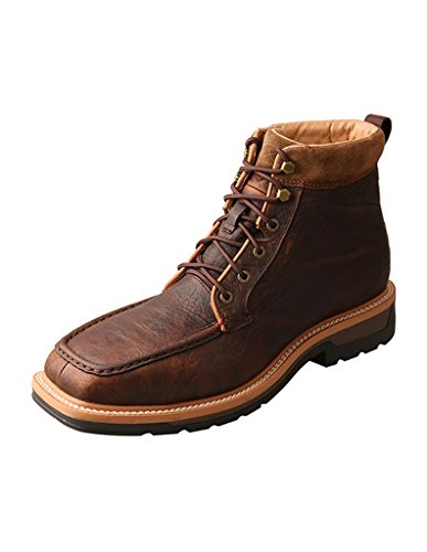 Twisted X Men's Light Work Lacer Waterproof Boot Soft Toe Dark Brown 8.5 EE