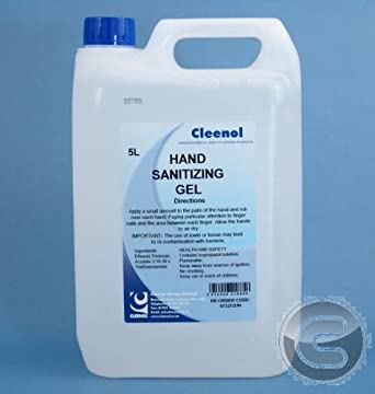 Cleenol 073212un Senses Hand Sanitizing Gel 5 Litres Pack Of 2
