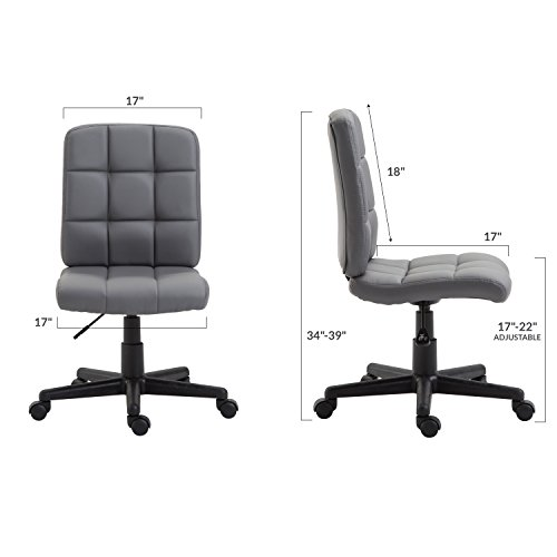 Poly and Bark Eva Task Chair in Vegan Leather, White