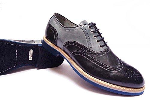 Nero Giardini - Zapatos de cordones de Piel para hombre azul Blu/Oceano/Navy 41