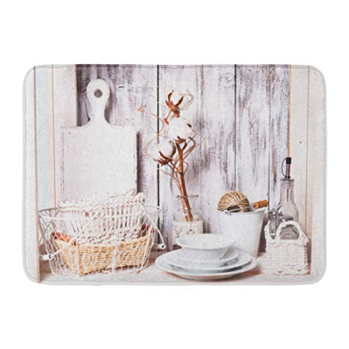 Aabagael Bath Mat Board White Interior Shelves in the Rack a
