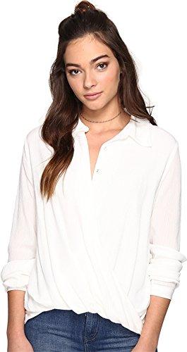 The Jetset Diaries Women's Korana Surplice Shirt Ivory Shirt