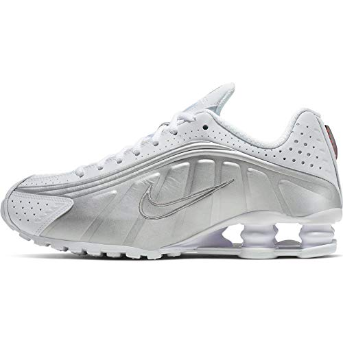 Nike - Shox R4 - AR3565101 - Color: Silver-White - Size: 10 (Sneakers Womans Nike Shox)