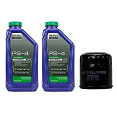 PURE POLARIS OIL CHANGE KIT Polaris part number 2877473 Kit includes 2 quarts of 4-cycle synthetic PS-4 plus oil (2876244) and 1 oil filter (2520799). Fits all ATV and Ranger / RZR models equipped with the following engines: 330, 400, 500 (ex...