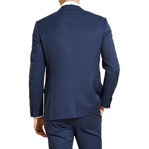 Jearey Mens Blazer Casual Slim Fit Lapel Suit Jacket One Button Daily Business Dress Coat (Navy, XX-Large) by Jearey (Image #2)