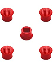 MMOBIEL 5 PCS Rubber TrackPoint Keyboard Mouse Red Cap with Soft Dome and Rim Laptop Pointer for Lenovo ThinkPad X/T/E / / L/P/Yoga Series