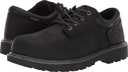 Wolverine Men's Floorhand Oxford Steel Toe Construction Shoe, Black, 8.5 M - Shoe Wolverine Oxford