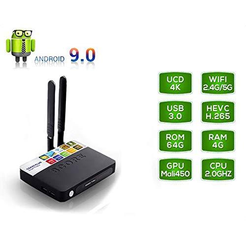 KGAYUC Smart TV Box, Android 9.0 TV Box, Smart TV Box 4GB RAM + 32GB ROM RK3328 Quad-Core Cortex-A53 CPU Support H.265…