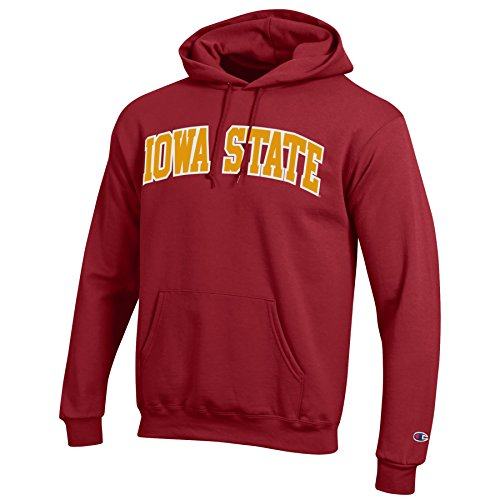 (Champion NCAA Iowa State Cyclones Men's Eco Power Blend Hooded Sweat Shirt, Large, Cardinal)