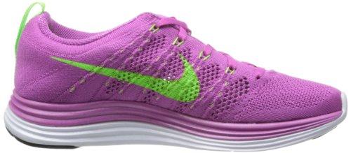 Nike Dames Flyknit One + Loopschoen Club Roze / Elektrisch Groen-wit