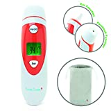 Ear and Forehead Baby Thermometer Quick and Accurate Infrared Temperature Reading - Digital Display - Infants, Toddlers and Adults - by BundleTumble