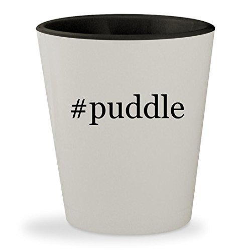 #puddle - Hashtag White Outer & Black Inner Ceramic 1.5oz Shot Glass (Puddle Pillow)