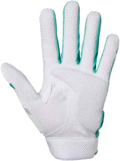 White//Mint Large Mizuno Finch Adult Softball Batting Glove