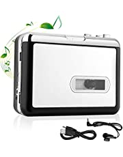 OfficeLead Cassette Player, Classical Portable Tape Player, Compatible with Laptops and Personal Computers, Vintage Auto Reverse Portable Audio Tape with Earphones