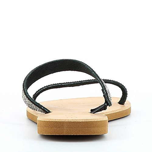 Piel Mujer Vestir De Shoes Sandalias Negro Para Greta Evita Fwvq6Xq
