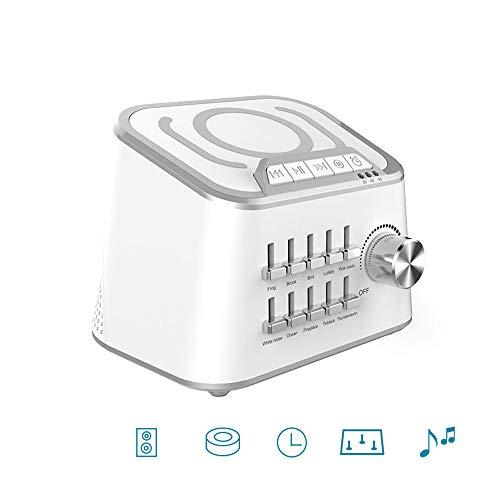 Roeam Sleep Sound Machine, BT 3.0 HiFi Sound Speaker 3 Time Settings for Baby Comfort Machine Sleep Quality Enhancer - 10 Natural Sounds Optional ()